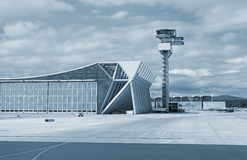 Air traffic control tower. Air traffic control tower in the airport Royalty Free Stock Photography