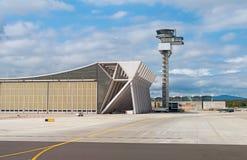 Air traffic control tower. Stock Photos