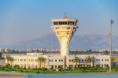 Air Traffic Control Tower in Antalya. Turkey Royalty Free Stock Photography
