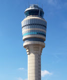 Air Traffic Control Tower at Atlanta Hartsfield-Jackson Airport. ATLANTA, GEORGIA - AUGUST 27: Air Traffic Control Tower at Atlanta Hartsfield-Jackson Airport on Royalty Free Stock Image