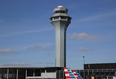 Air Traffic Control Tower at OHare International Airport in Chicago Royalty Free Stock Images