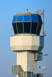 Air traffic control tower. Small air traffic controle tower in the morning on a nice day Royalty Free Stock Photos