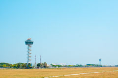 Air Traffic Control tower Sunset Sky Royalty Free Stock Photos