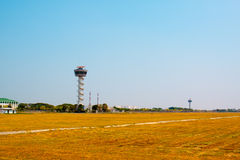 Air Traffic Control tower Sunset Sky Stock Images