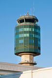 Air traffic control tower in Vancouver YVR airport. View of the air traffic control tower in Vancouver YVR airport Royalty Free Stock Photography
