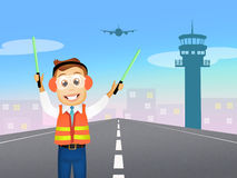 Air traffic controller Stock Images