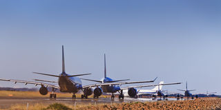 Air Traffic Land stock images