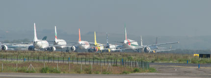 Air Traffic Land Stock Photo