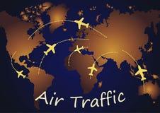 Air Traffic Map stock illustration