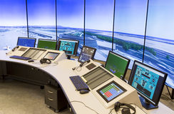 Air Traffic Services Authority. Bulgarian Air Traffic Services Authority (BULATSA) control center stock photos