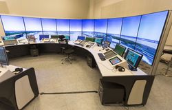 Air Traffic Services Authority. Bulgarian Air Traffic Services Authority (BULATSA) control center royalty free stock photo