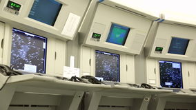 Air Traffic Services Authority control center no people. Bullgaria's Air Traffic Services Authority control center room. No people stock video footage
