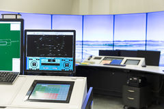 Air Traffic Services Authority control room monitors Stock Image