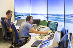 Air Traffic Services Authority controller Stock Photo