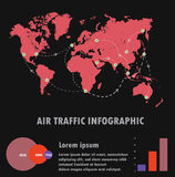 Air traffic,Vector Infographics Flat Design. Stock Image