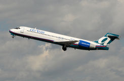 Air Tran passenger jet taking off Royalty Free Stock Images