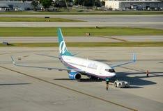 Air Trand passenger jet Stock Images