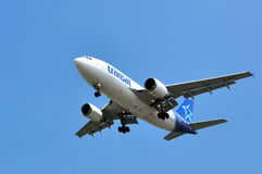 Air Transat flight taking off Royalty Free Stock Image