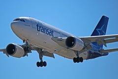 Air Transat flygbuss A310-300 C-GLAT Arkivbild