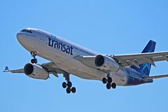 Air Transat flygbuss A330-200 C-GUBC Royaltyfri Foto