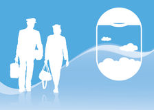 Air transport background Royalty Free Stock Images