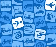 Air transport, colored background, seamless. Royalty Free Stock Images