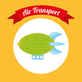 Air transport design Stock Photo