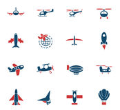 Air transport icon set Royalty Free Stock Image