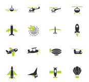 Air transport icon set Stock Photo