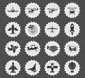 Air transport icon set Royalty Free Stock Images