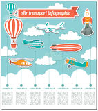 Air transport infographics elements Stock Photos
