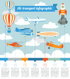 Air transport infographics elements Stock Images