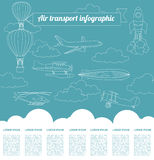 Air transport infographics elements Stock Photo
