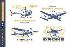 Air transport Logo illustration on white background Royalty Free Stock Image