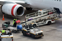 Air transport luggage Stock Images