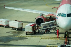 Air transport luggage Stock Photography