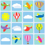 Air transportation. Seamless vector pattern Royalty Free Stock Photo
