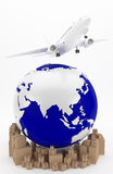 Air transportation in Asia Royalty Free Stock Photography