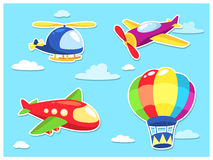 Air Transportation Cartoon Royalty Free Stock Photo