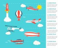Air transportation infographics Stock Photo