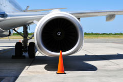 Air transportation: Jet engine detail Stock Photography