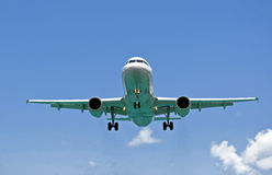 Air transportation: passenger airplane. Royalty Free Stock Photography