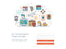 Air transportation travel concept Royalty Free Stock Photography