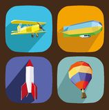 Air transporttation icons Royalty Free Stock Photo