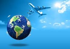 Air travel vector illustration
