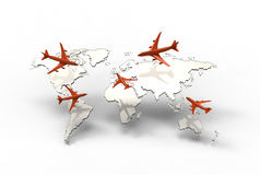 Air travel. Around the globe Royalty Free Stock Photography