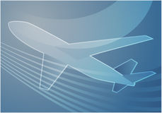 Air travel. Airplane abstract graphic wallpaper illustration Royalty Free Stock Photo