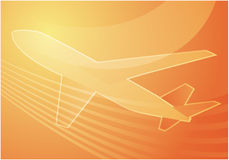 Air travel. Airplane abstract graphic wallpaper illustration Stock Image