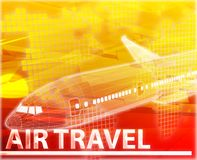 Air travel Abstract concept digital illustration Royalty Free Stock Photography