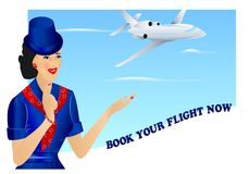 Air travel ad, cdr vector stock image